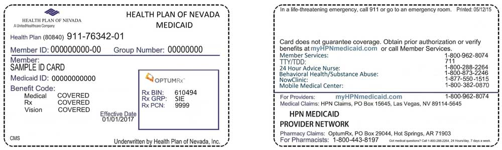 Health Plan ID Card